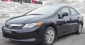 Honda Civic Sdn LX CRUISE BLUETOOTH A/C PNEUS HIVER 2012