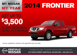Nissan - Save up to $3,500 on the 2014 Nissan Frontier