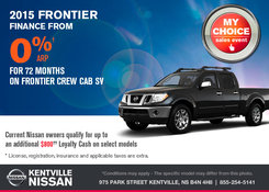 Nissan - Save on the all-new 2015 Nissan Frontier today!
