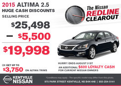 Nissan - Save on the all-new 2015 Nissan Altima Sedan today!