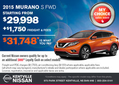 Nissan - Save on the all-new 2015 Nissan Murano today!