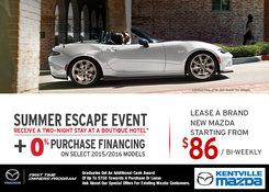 Mazda - Mazda's Summer Escape Event