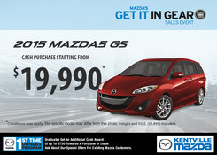Mazda - Save on the 2015 Mazda5 GS now!