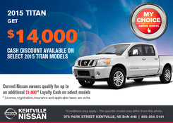 Nissan - Save on the all-new 2015 Nissan Titan today!