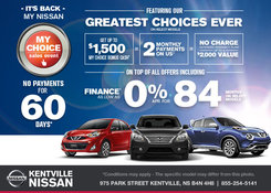 Nissan - Take advantage of the My Choice Sales Event