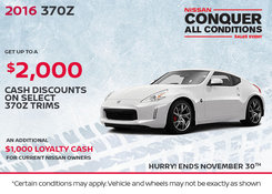Nissan - Save on the all-new 2016 Nissan 370Z today!