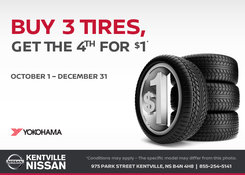 Nissan - Buy 3 tires get the 4th for $1