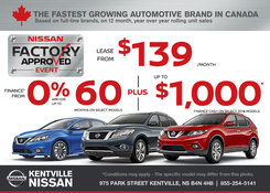Nissan - Take Advantage of Nissan's Factory Approved Event