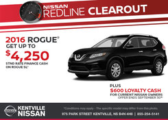Nissan - Save on the 2016 Nissan Rogue Today!