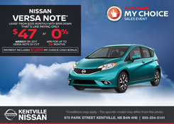 Nissan - Lease the 2017 Nissan Versa Note Today!