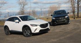 Concours de popularité: Mazda CX-3 c. Honda HR-V