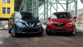 Duel entre Nissan Rogue et Mazda CX-5 : poids plume, poids lourd