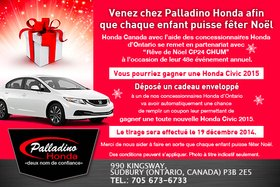 This is your chance to win an all-new 2015 Honda Civic when you give a Christmas gift!