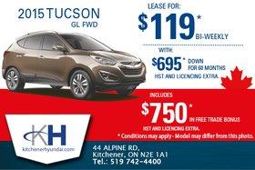 Save on the 2015 Hyundai Tucson!