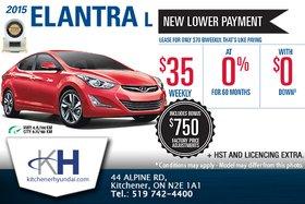 Get the new 2015 Hyundai Elantra!