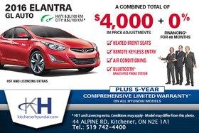 Get the New 2016 Hyundai Elantra GL Auto!