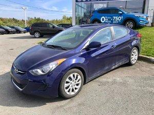 Hyundai Elantra 2013 GL*AC*CRUISE*BLUETOOTH*SIEGE CHAUFFANT