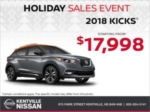 Nissan - Get the 2018 Kicks Today!