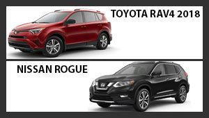 Toyota RAV4 2018 versus Nissan Rogue