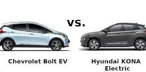 Chevrolet Bolt vs Hyundai Kona 2019