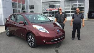 La Nissan Leaf électrique très spacieuse