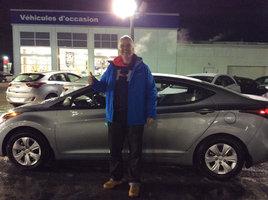 Merci pour ma nouvelle Elantra!  de Hyundai Trois-Rivières à Trois-Rivières