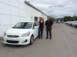 Une cliente satisfaite! de Hyundai Trois-Rivières à Trois-Rivières