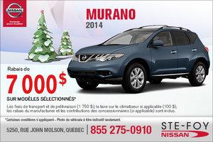 Rabais de 7000$ sur le Nissan Murano 2014
