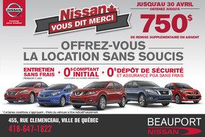 Nissan vous dit merci en avril!