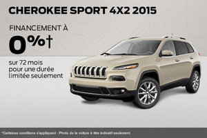 Jeep Cherokee Sport 2015 à 0% de financement