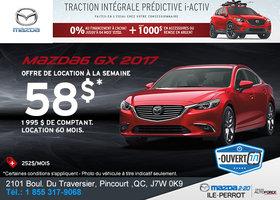 Louez la Mazda6 2017 aujourd'hui!