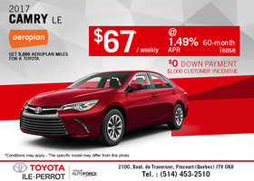 Lease the All-New 2017 Toyota Camry Today!