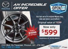 Last Set of 4 Original Mazda Rims on Sale