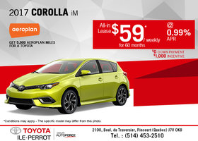 Lease the All-New 2017 Corolla iM Today!