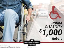 Disability rebate