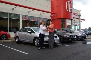 Great experience when purchasing my new Honda Civic! Nicole Doiron-Bertin