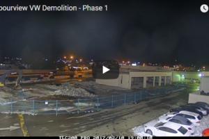 Phase 1 of Harbourview Volkswagen Demolition