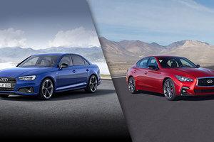 Audi A4 2018 vs Infiniti Q50 2019 à Montréal
