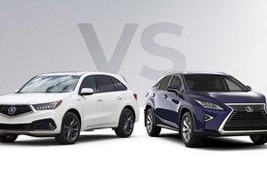 Acura MDX 2019 vs Lexus RX 350L 2019 à Montréal