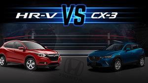 Honda HR-V 2016 versus Mazda CX-3