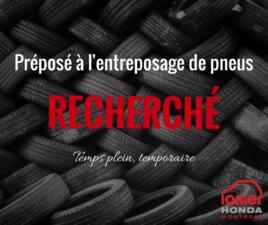 Préposé à l'entreposage de pneus