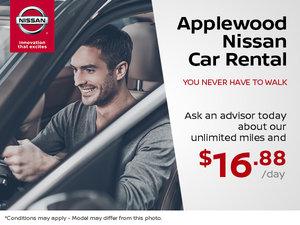 Applewood Nissan Car Rental