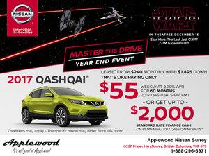 Save on the 2017 Nissan Qashqai Today!