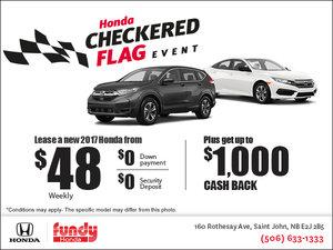 Fundy Honda Checkered Flag Event!