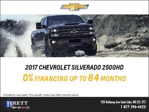 Save big on the 2017 Chevrolet Silverado 2500HD!