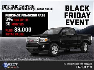 Save on the 2017 GMC Canyon!