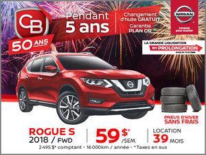 ROGUE S 2018 FWD AUTOMATIQUE