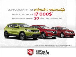 Grande liquidation des véhicules corporatifs !