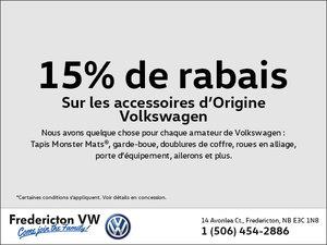 15% de rabais sur les accessoires d'origine Volkswagen