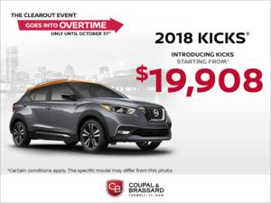 Get the 2018 Kicks Today!